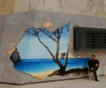 Mural pintado en un Centro Penitenciario con ayuda de los presos